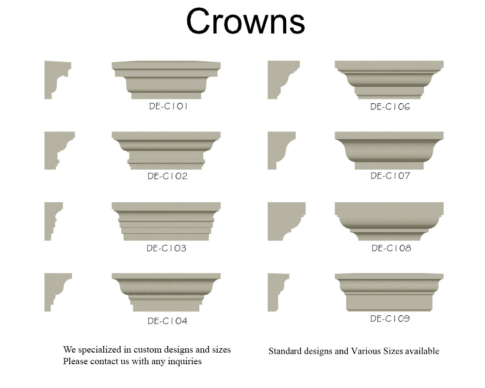 Crowns, Cornices, Eves by Design Elements Unlimited.
